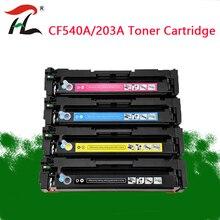 Uyumlu hp 203A CF540A 540a toner HP için kartuş HP laserjet Pro M254nw M254dw MFP M281fdw M281fdn M280nw yazıcı