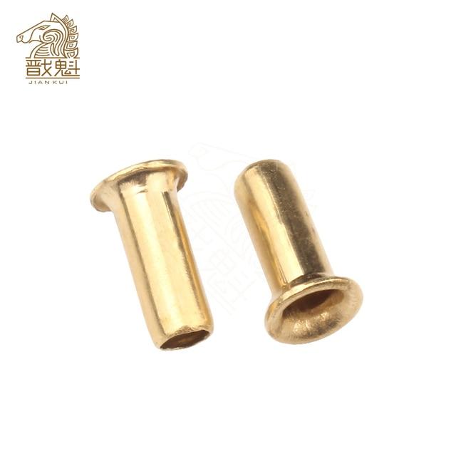 Rivets tubulaires Double face en cuivre, clous PCB, écrous de Rivet creux, GB876, M0.9 M1.3 M1.5 M2 M2.5 M3 M4