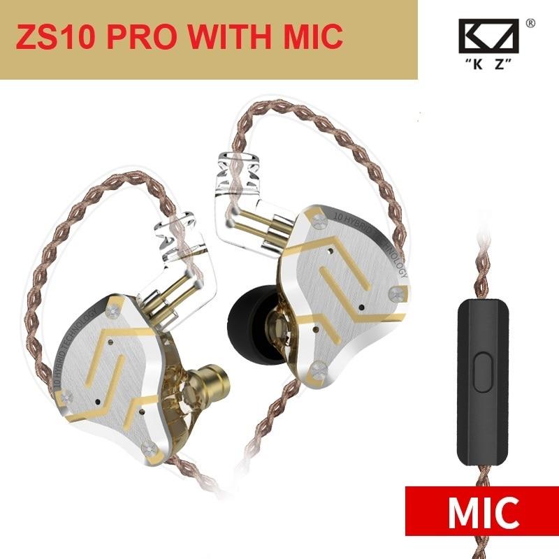 KZ ZS10 Pro 4BA+1DD HIFI Metal Headset Hybrid In Ear Earphone Sport Noise Cancelling Headset KZ ZS10PRO ZST ZSX