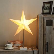 Star Shape Bedside Light Plug in Desk Lamp LED Christmas Decorative Lamp Warm White Light Home Bedroom Romantic Night Light