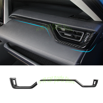 Car Dashboard Screen frame Chrome Interior trims Car Interior Peach Wood Decoration For Toyota RAV4 RAV 4 XA50 50 2019 2020Right image