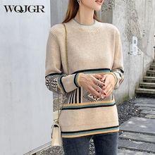 Wqjgr 2020 осенне зимний женский свитер пуловеры повседневная