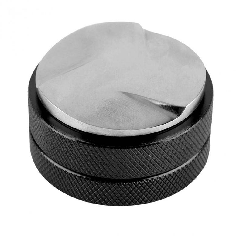Espresso 58Mm Coffee Distributor Leveler Tool Macaron Coffee Tamper With Three Angled Slopes-Black