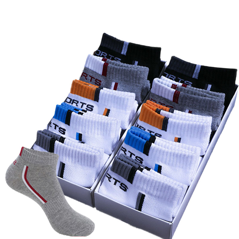 10 Pair High Quality Men Ankle Socks Breathable Cotton Sports Socks Mesh Casual Athletic Summer Thin Cut Short Sokken Size 39-44
