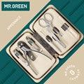 MR. GREEN 7 stks/set Nagels Art Clipper Schaar Tweezer Mes teen Professionele Manicure Nosehair cut Grooming kit Tool Manicure