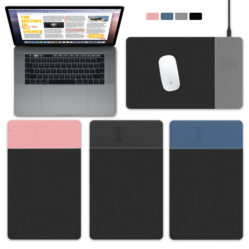 Game mouse pad mobile phone Wireless Charger Mouse Pad Mat PU Leather Mousepad for iPhone X
