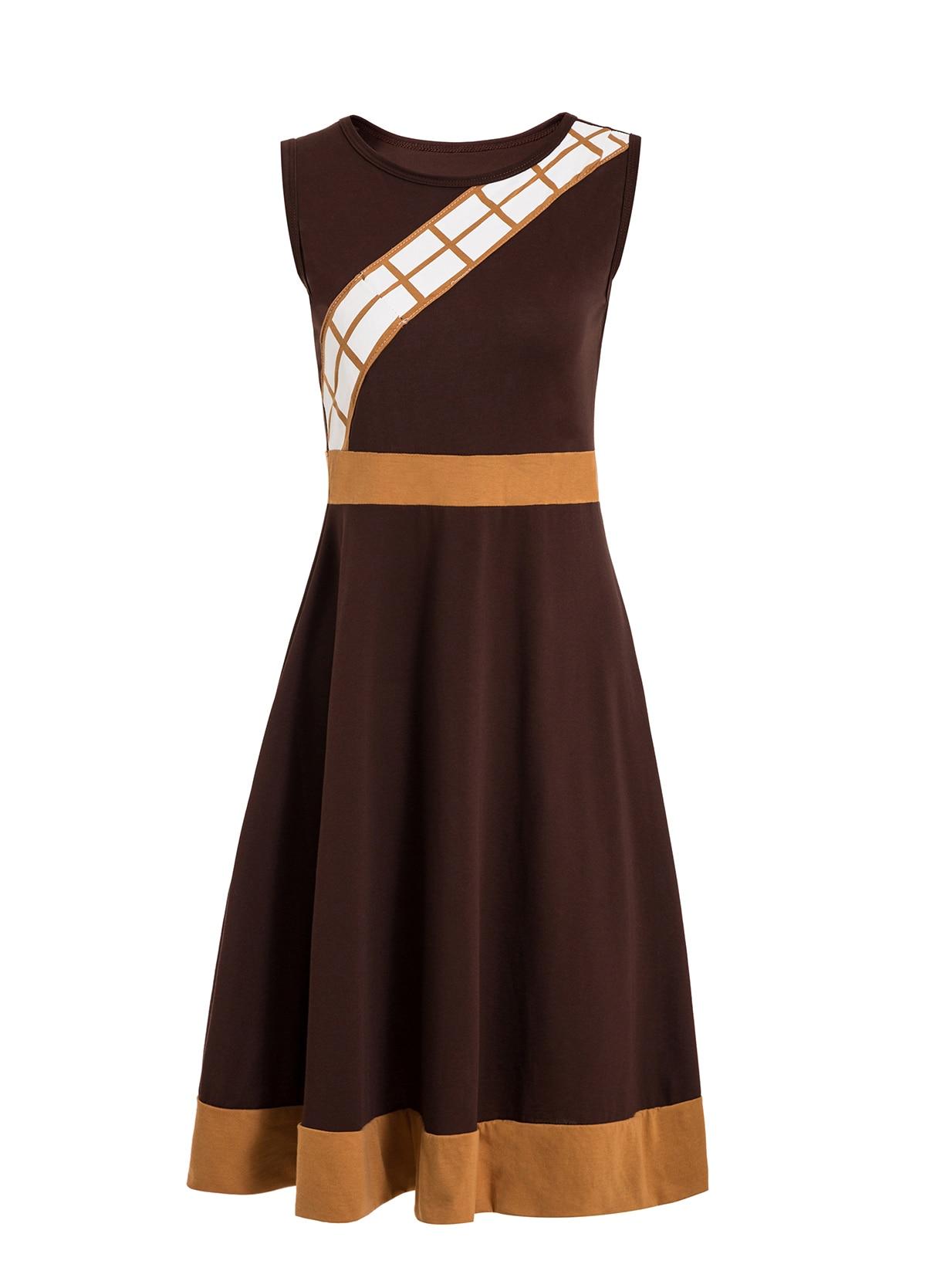 Платье принцессы для взрослых; одинаковый семейный маскарадный костюм «Минни Маус и я»; женское платье принцессы в горошек; большие размеры - Цвет: chewbacca