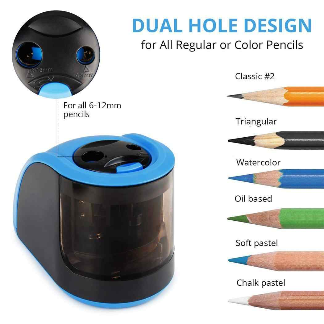 Automatic Two-hole Electric Pencil Sharpener For Perfect for home, school and office. 6-12mm Pencils ROHS, CE