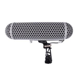 Image 2 - Système de Suspension de montage de choc de pare brise de Cage de protection de vent de Microphone pour la collection audio de HD de Microphones de RODE VS dirigeable de RODE