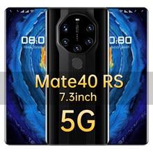 Mate40 RS-teléfono inteligente de 2021 pulgadas, 7,3 mAh, 16 + 6800 GB, pantalla completa con WIFI-BT-FM-GPS, compatible con Wake-up, novedad de 512