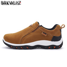 Men's Walking Shoes Slip-On Comfortable Anti-slip Sneakers Footwear Breathable Big Size 39-48