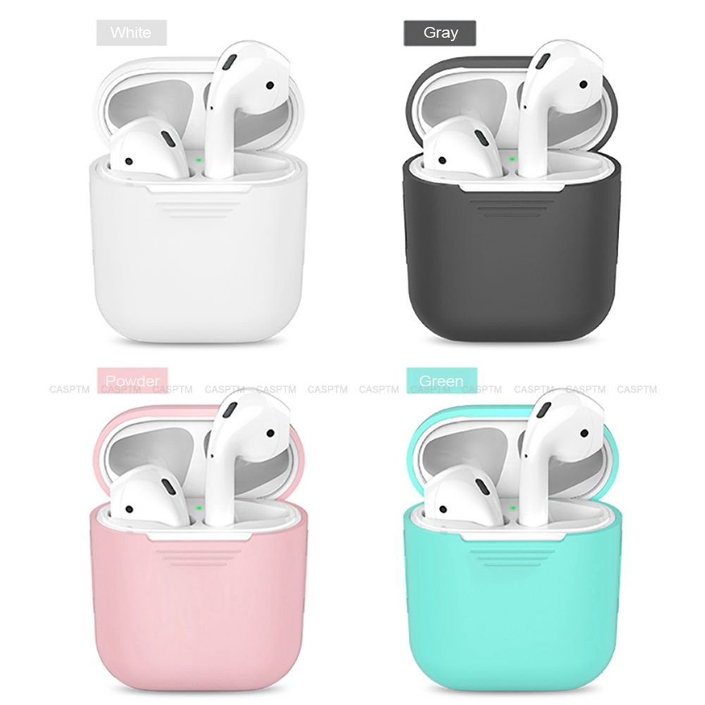 Casptm Silicone Case For Apple Airpods 1 2 Wired Charging Earphone
