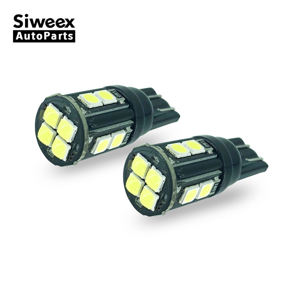 2 Pcs W5W T10 Auto Car Led 12 SMD 3030 Bulbs Reading Light Turn Signal Lights Clearance Lamp 168 194 White 12V DC