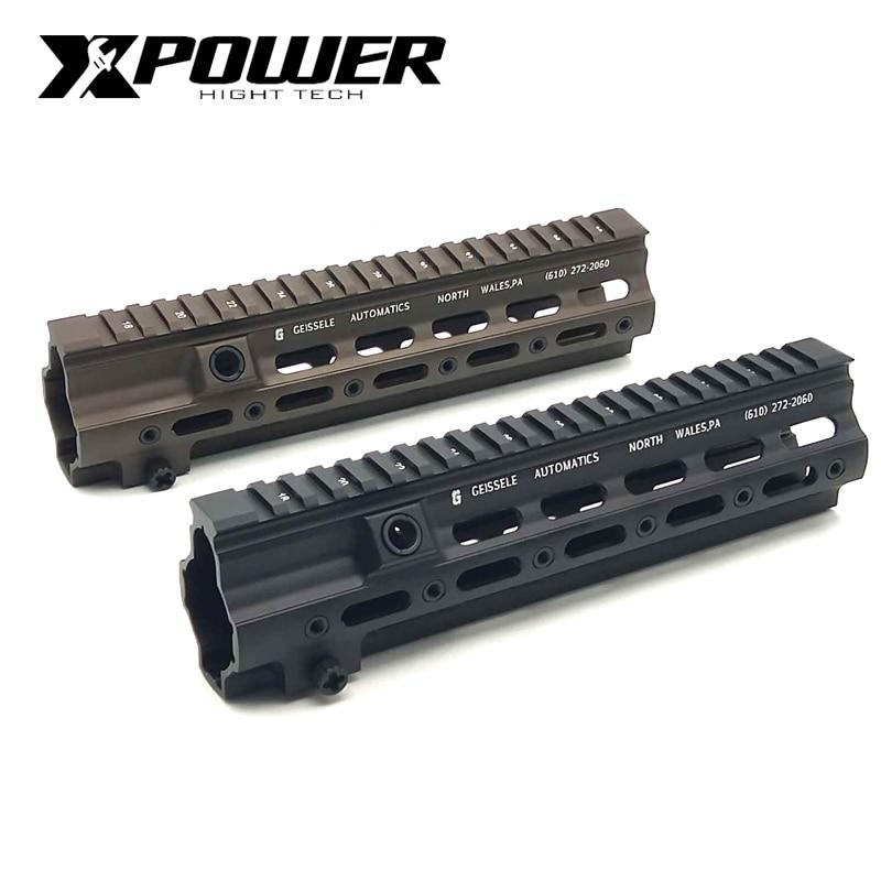XPOWER HK416 Rail Handguard Airsoft Gun Paintball Accessories M-LOK MOD For AR AEG CS Outdoor Tactical Sports Receiver Gearbox