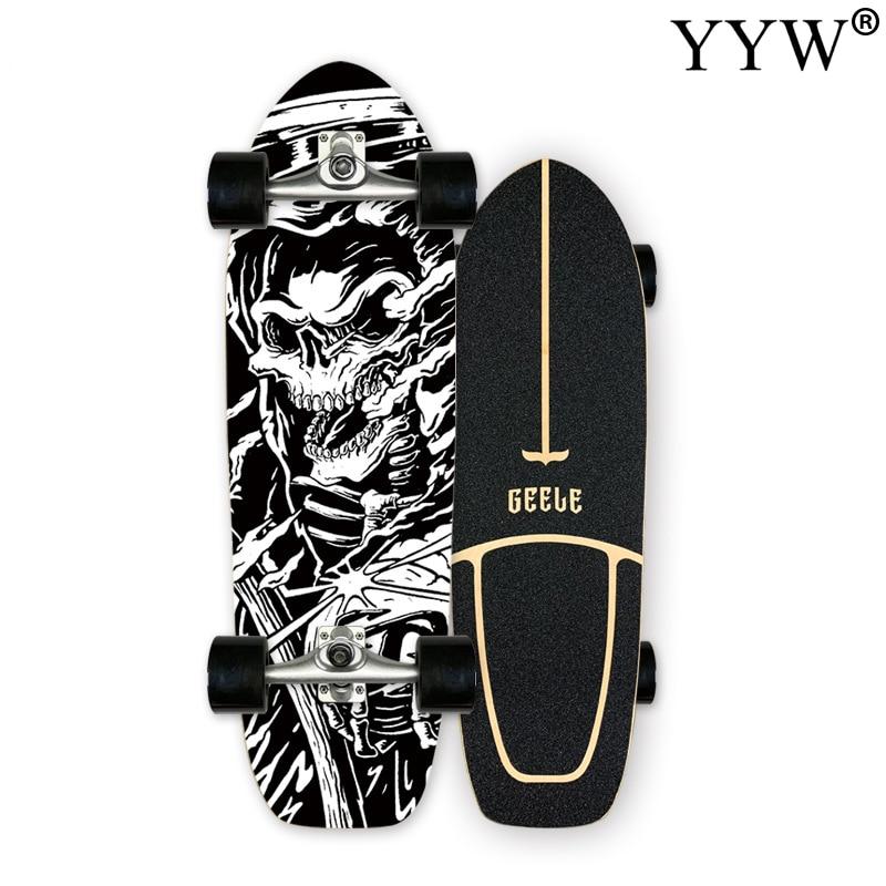 CX4 высокогладкий скейтборд для серфинга, Кленовый Скейтборд с одной резьбой, прогулочный скейтборд, откачивающий скейтборд, классный спорт...