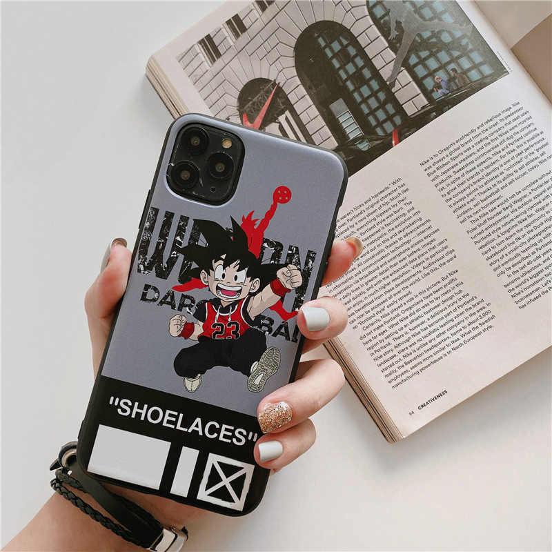 Thương Hiệu Cao Cấp Ốp Lưng Dẻo Silicon Dành Cho iPhone 11 Pro Max XS XR 8 7 6 S Plus 11Pro 8Plus Hình Rồng bóng Trắng Jordan Điện Thoại Logo Coque