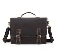 Genuine leather male handbags 15 inch laptop business shoulder crossbody bags