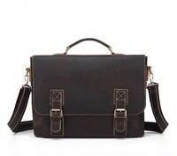 Genuine leather male handbags 15 inch laptop business shoulder crossbody bags