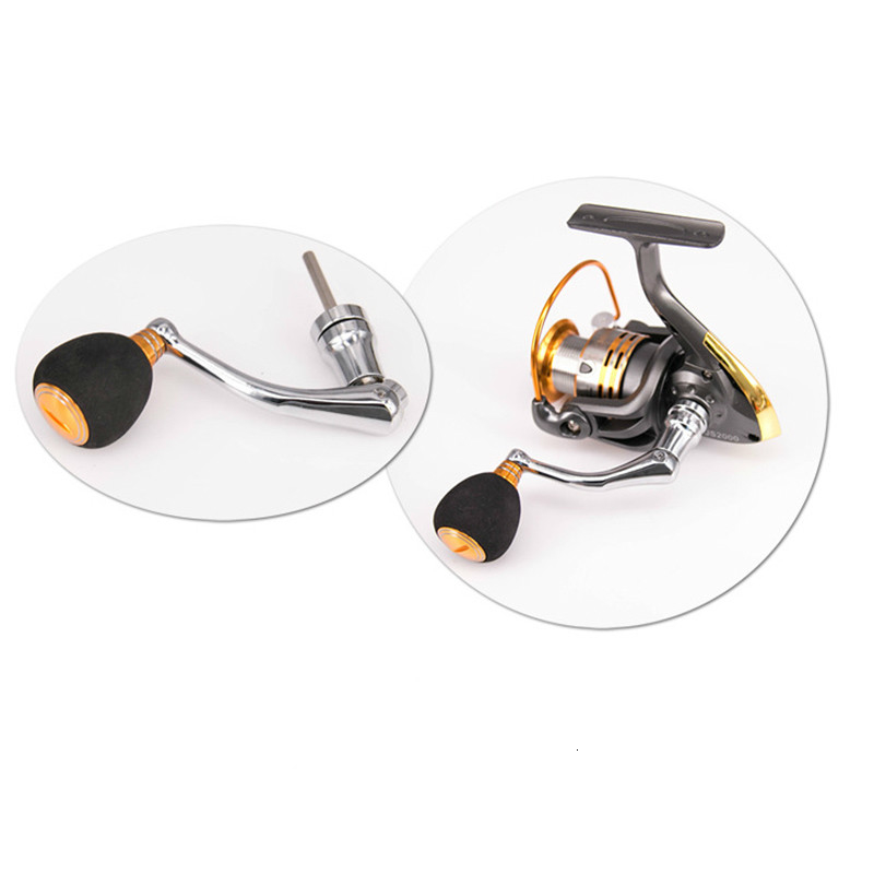 Metal Universal 2000-6000 Series Fishing Reels Rock Arms Small Fishing Wheels Rocks with Screw Rocker Durable Arm Folding Handle