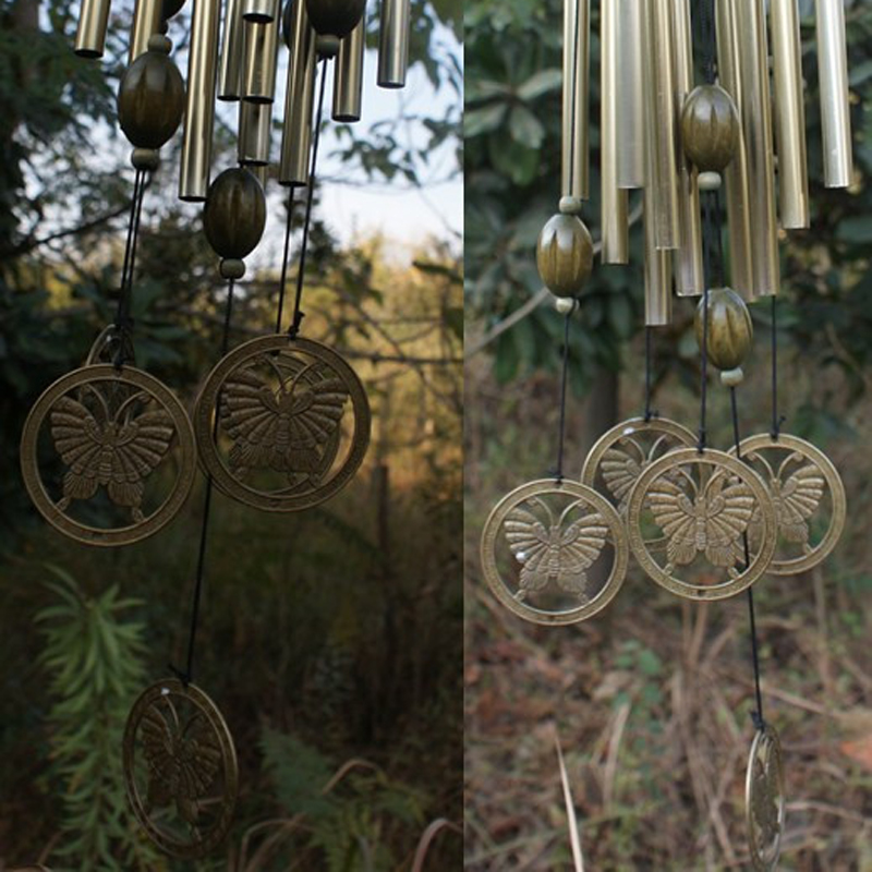 Garden Wind Chime Bells Copper Tubes Ornament Outdoor Necessary Love Safe 1PC