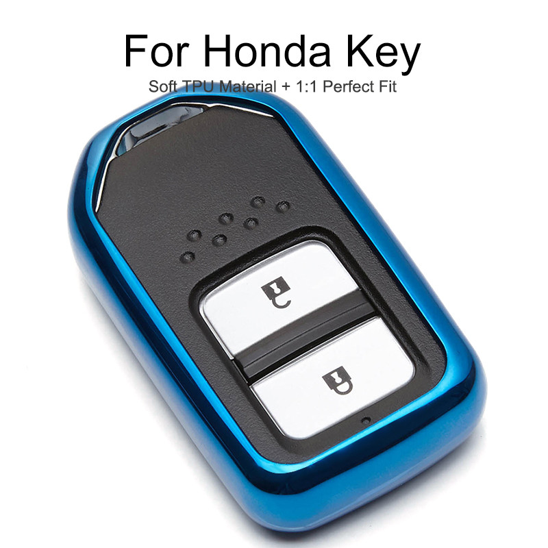 TPU Protection Car Key Cover Case Cap For <font><b>Honda</b></font> Civic Insight Accord Freed Fit <font><b>Pcx</b></font> <font><b>125</b></font> Forza Stream 2018 <font><b>2019</b></font> Key Chain Ring image