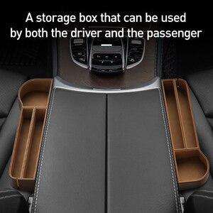 Image 3 - Baseus Car Storage Baskets Box Organizer Seat Gap PU Case Pocket Car Seat Side Slit For Organizer Wallet Keys Phone Holders