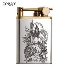 Lighter Kerosene Lighter 925 Silver Guan Gong Constantine Creative Windbreak Lighter For Men Presents To Boyfriend(China)