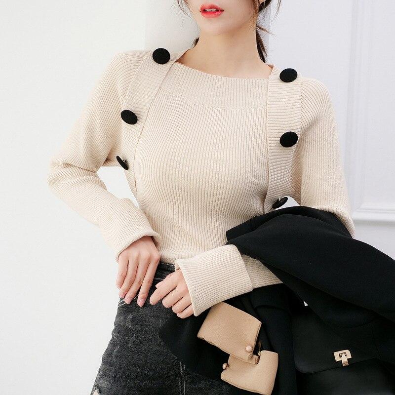 2020 женский новый свитер женская рубашка Корейская версия свитер с длинными рукавами джемпер пуловер свитер для женщин| |   | АлиЭкспресс