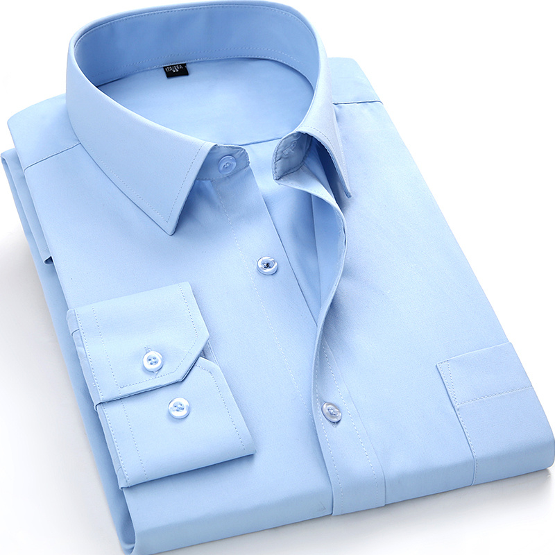 H49a7e6fb43e447f49feaa27f6254c6c7J - Men's Long Sleeve Slim Fit Dress Casual Shirt White Blue Red Yellow Male Social Shirt Plus Size 5XL 6XL 7XL 8XL