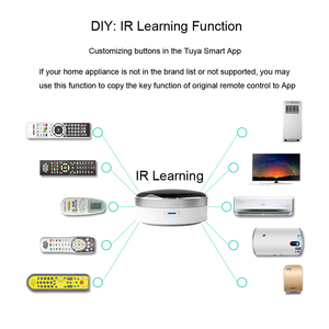 Image 5 - Smart Life domotique télécommande universelle WIFI + IR contrôle climatisation TV travail avec Google Assistant Alexa Siri