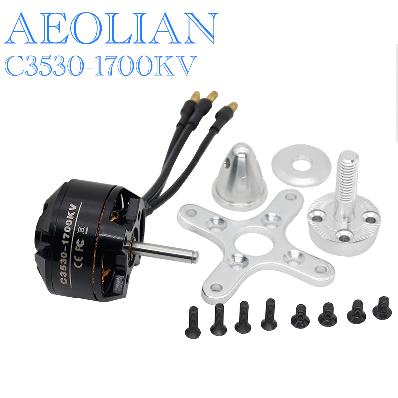 Aeolian 3530 kv1700/1400/110 outrunner brushless electric motor for RC airplane fix-wing image