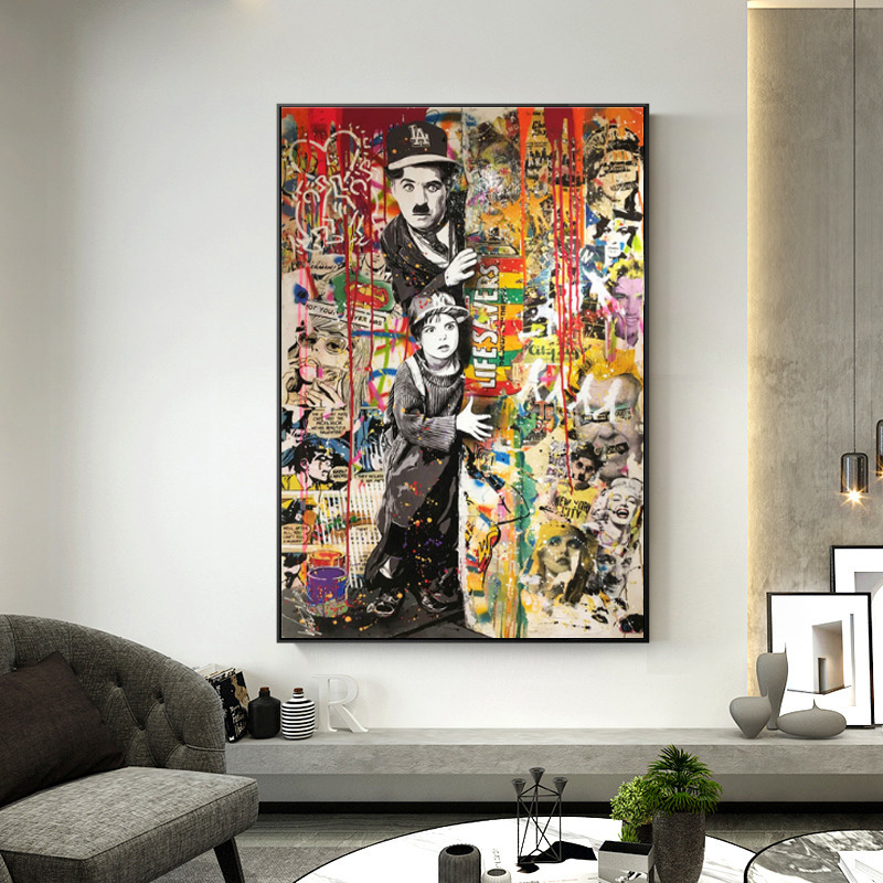 Modern Graffiti Wall Art Canvas Painting Portrait Posters And Prints Wall Pictures For Living Room Interior Cuadros Home Decor Painting Calligraphy Aliexpress