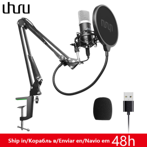 Image 1 - UHURU USB Podcast Condenser Microphone 192kHZ/24bit Professional PC Streaming Cardioid Microphone Kit for Youtube Laptop Karaoke