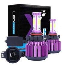 X6 головной светильник лампы фары 4-сторонняя лампа для автомобиля светодиодный головной светильник H7 H8/9/11 лет HB3/H10/9005 HB4/9006 HB1/9004 HB5/9007 H13 5202 H4 лампа