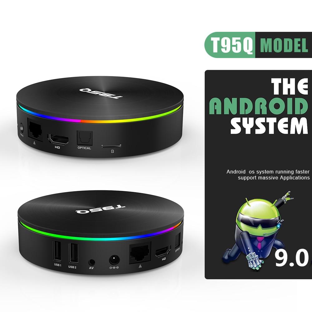 T95Q 4GB 64GB Android 9.0 TV Box DDR3 Amlogic S905X2 Quad Core 2.4G & 5GHz double Wifi BT4.1 100M H.265 4K lecteur multimédia PK X96 tvbox - 4