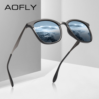 AOFLY BRAND DESIGN Women Men Sunglasses Polarized Vintage Eyewear Driving Alloy Temple Gafas de sol Masculino AF8120