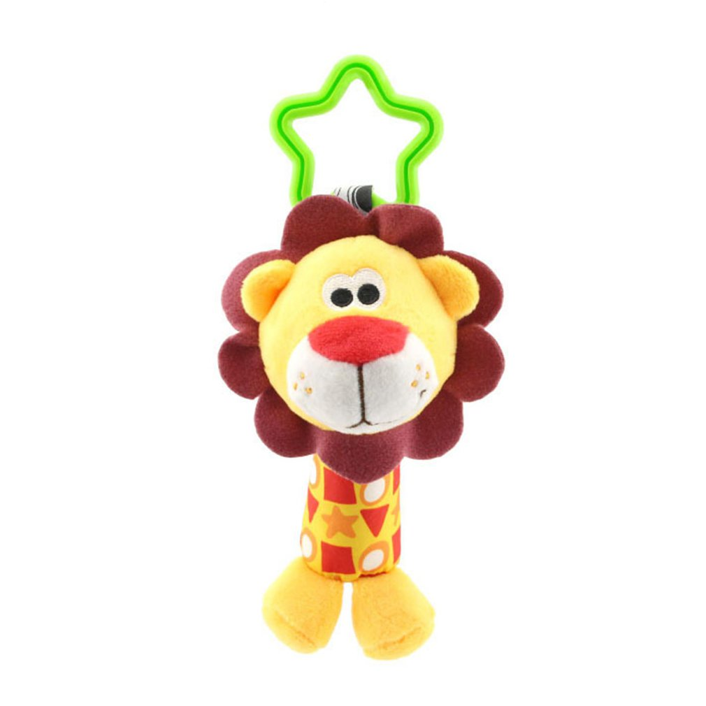 Baby Stroller Pendant Comfort Toy 0-1 Year Old Car Hanging Bed Hanging Animal Hand Grab Rattle Puppy Lion Elephant