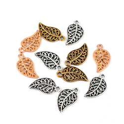 20pcs 19x10mm Metal Leaf Shape Pendants Beads Charms Leaves Shape Pendant Charms For Jewelry Making DIY Accessories Wholesale