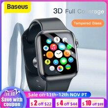 Baseus 0.2mm mince verre de protection pour Apple Watch 4 5 6 SE 3D couverture complète verre trempé pour iWatch 4 3 2 protecteur décran