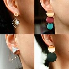 Pendientes de gota de acrílico de la Declaración de la vendimia de X & P para las mujeres 2020 joyería de moda perla geométrica coreana colgante de oro cuelga el pendiente