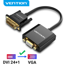 Vention Adaptador DVI a VGA Convertidor de Cable Full HD 1080P 24 + 1 25 pines macho a 15 pines hembra para Monitor TV PC DVI D adaptador VGA