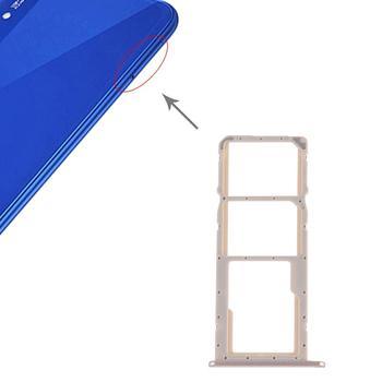 iPartsBuy SIM Card Tray + SIM Card Tray + Micro SD Card for Huawei Honor Play 8A ipartsbuy sim card tray nm card tray for huawei p30