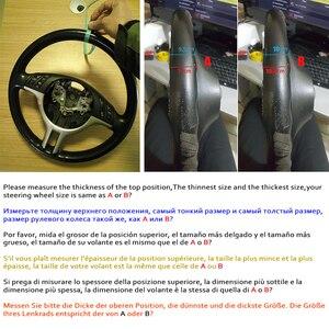 Image 3 - WCaRFun DIY ที่กำหนดเองชื่อ Hand Stitched พวงมาลัยรถยนต์สีดำสำหรับ BMW E39 E46 325i E53 x5