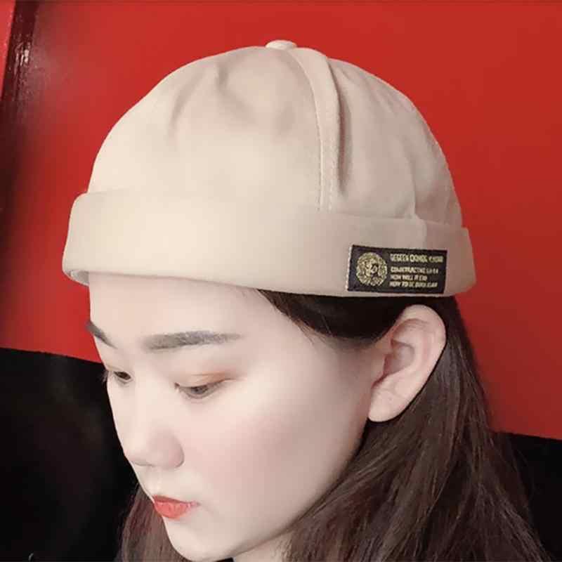 خمر الهيب هوب الرجال النساء قبعة غسلها القطن الرجعية الجمجمة قبعة قابل للتعديل Brimless قبعة المالك تنفس قبعة صغيرة