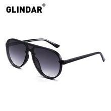 Women Men Rimless Shield Sunglasses Thicken Frame Pilot Sun Glasses