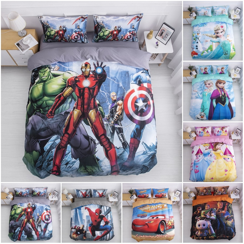 Disney Hulk Captain America Avengers Baby Bedding Set Duvet Cover Pillowcases For Children Boys Bedroom Twin Birthday Gift 2020