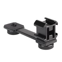 Hot Shoe Adjustable Mount Monitor Flash Adapter Microphone Bracket Holder for Video Camera Photography for Canon Nikon Sony hot cold shoe mount holder adapter 1 4 thread photo studio kit for camera cage video light microphone monitor c1367