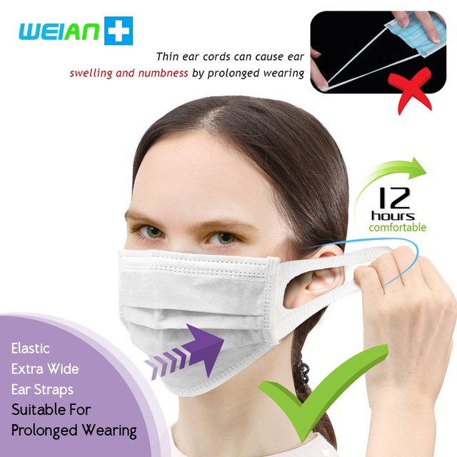 Brand New Disposable Mask Anti Bacterial Dust Pollen Flu 일회용마스크 Mask Waterproof Breathable Dustproof Influenza Safety Face Masks 4