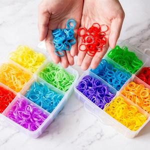 Image 2 - 9000pc DIY Toys Rubber Loom Bands Set Kid DIY Bracelet Silicone Rubber Bands Elastic Weave Loom Bands Toy Children Goods