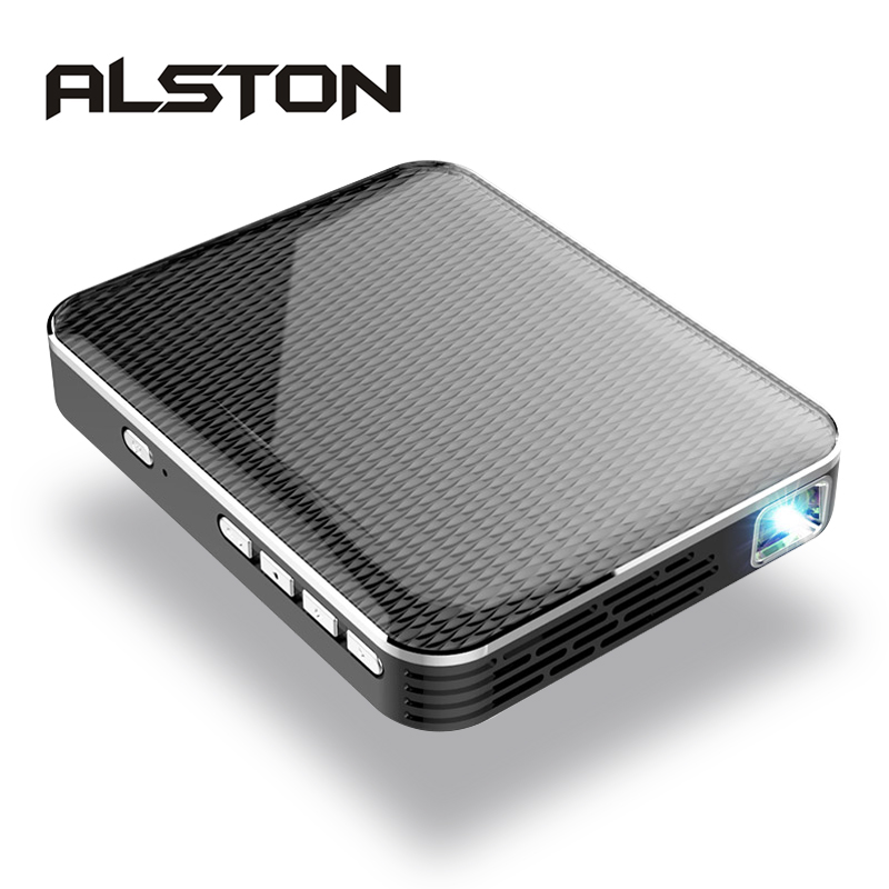 MINI Projector ALSTON Portable 1080P Beamer Theater Built-In P6 2500mah-Battery Hdmi-Support